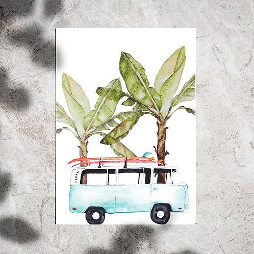 Ansichtkaart busje