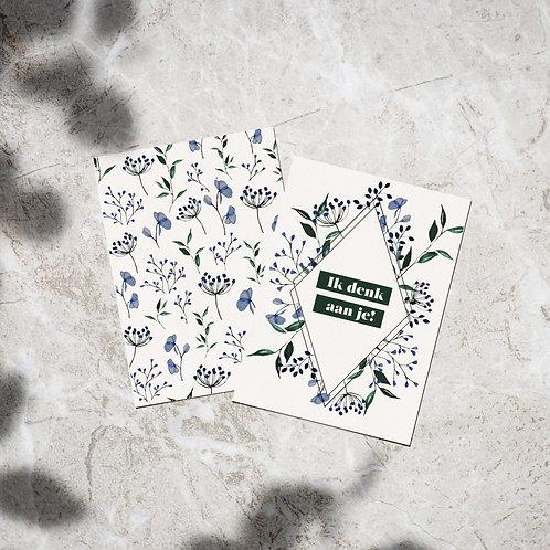 Set ansichtkaarten 'Ik denk aan je!'