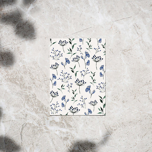 Ansichtkaart paarse bloemen