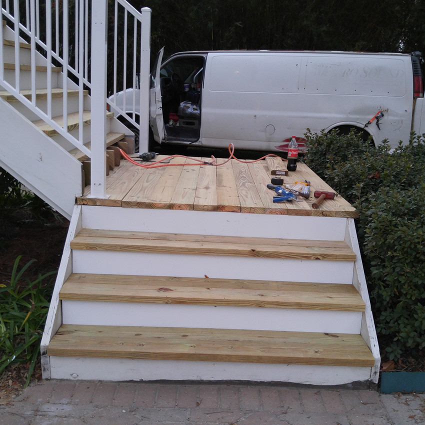 Decking going back in place.
