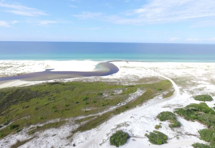 The park is bordered by the Gulf of Mexico and by Lake Powell, the largest coastal dune lake in Florida.