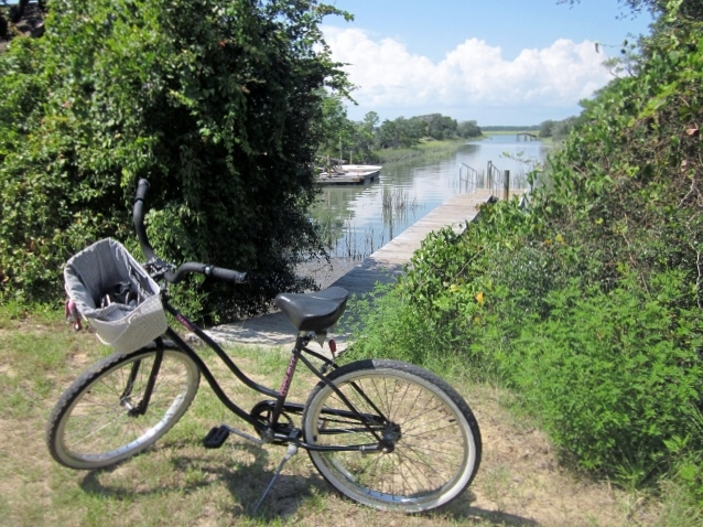 We provide guests with beach bikes.  The island is flat and enjoyable for riding.