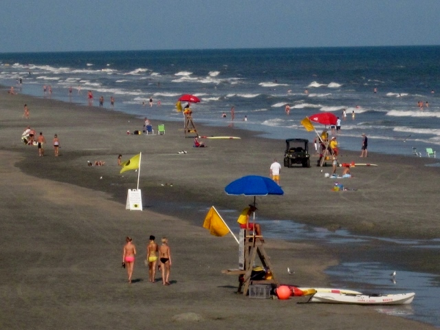Folly includes more than 6 miles of public beach great for sun bathing, shelling, or looking for shark teeth.