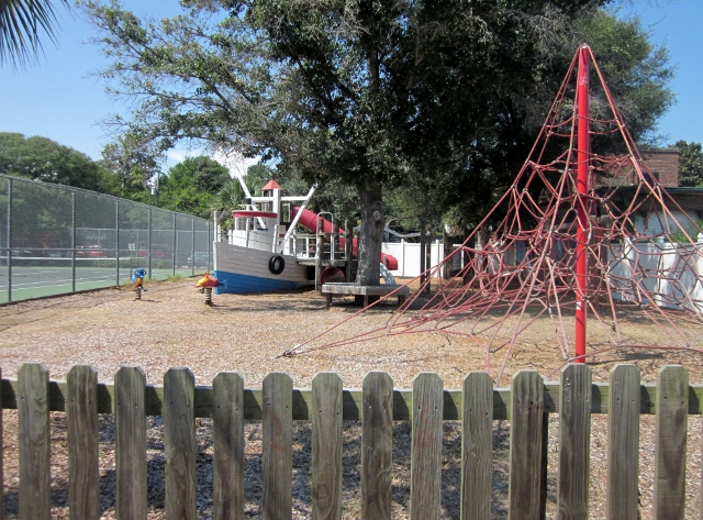 Children can play and explore some of the public playgrounds.