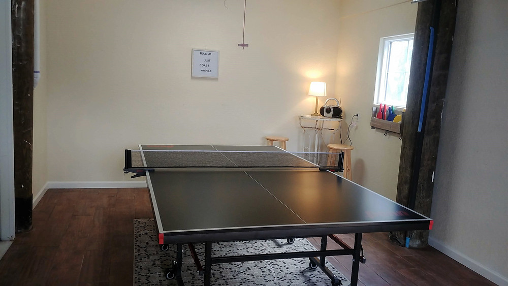 Expanded Recreation Room with New Ping Pong Table