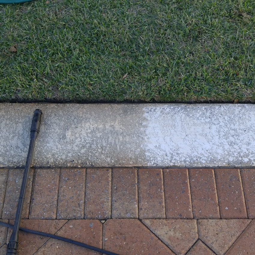Power washing already making a big difference.