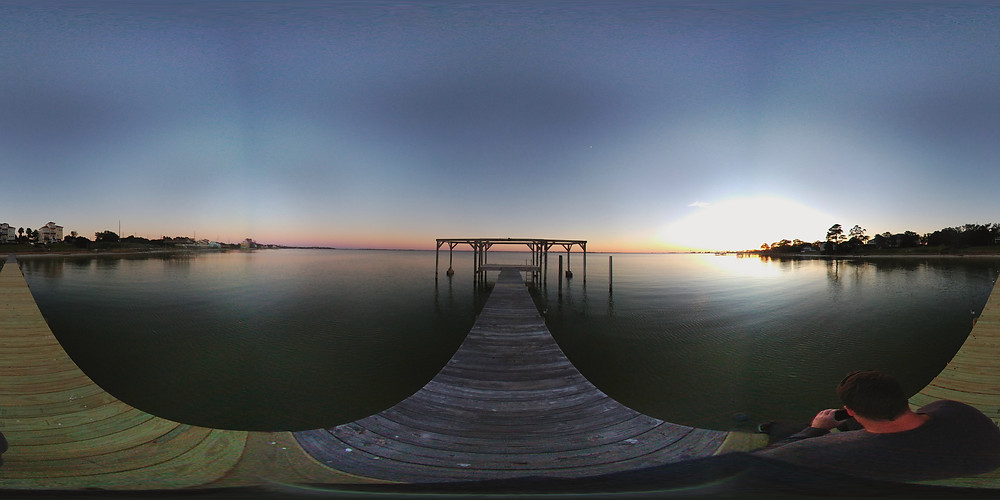 Click photo to see a 360 degree view of the 200 ft dock on the Santa Rosa Sound.