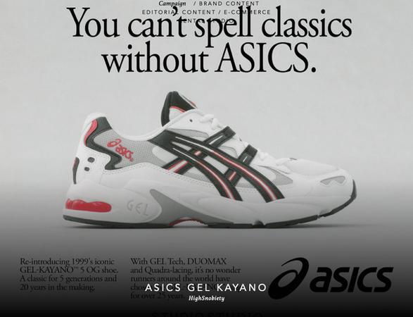 ASICS Gey-Kayano + Highsnobiety Global Campaign