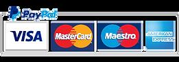 Paypal Visa Mastercard Maestro American Express