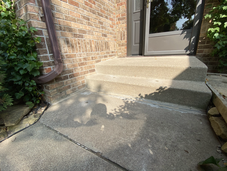 Residential Front Stoop Concrete Raised, First Impressions Raised
