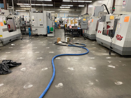 Heavy equipment machine shop, stable polyurethane solutions