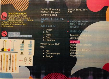 Pick your music menu: Major(entrée), Minor(Side dish) and Elective(Dessert)
