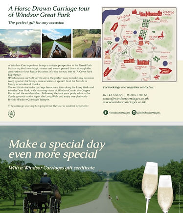 Gif Certificate fo windsor great park carriage rides