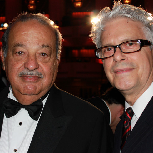Carlos Slim and Tom Zotos