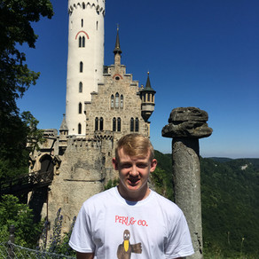 Peri the Pelican t-shirt makes it to Germany!