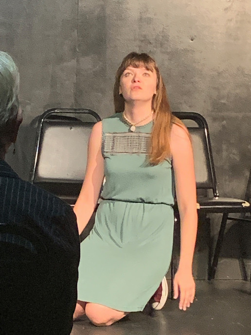 Elise improvising in Volcano: The Musical at The Magnet Training Center September 2019.
