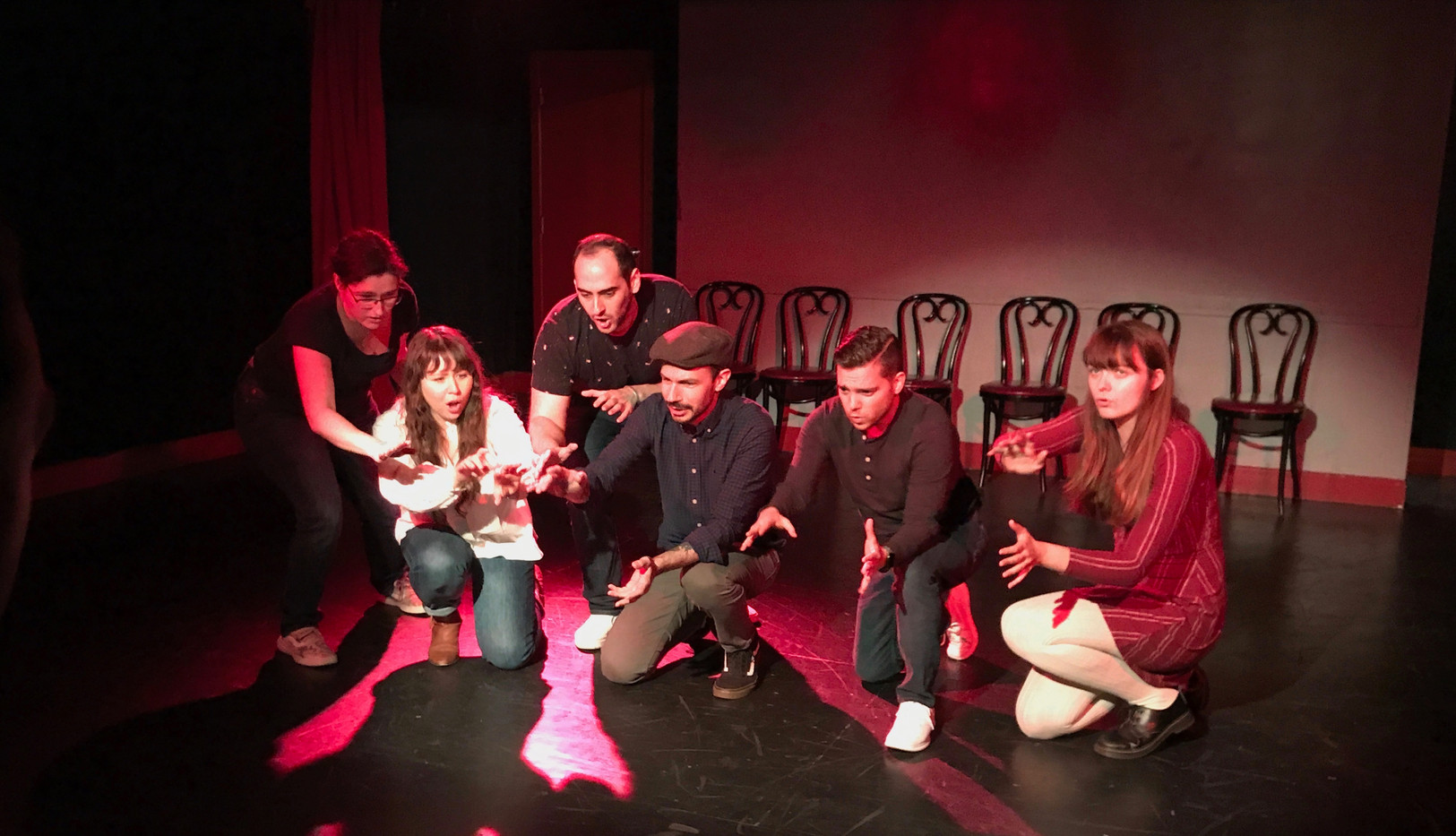 "Elise in ""The Musical Improv Showcase"" at NYC's The Pit Loft."
