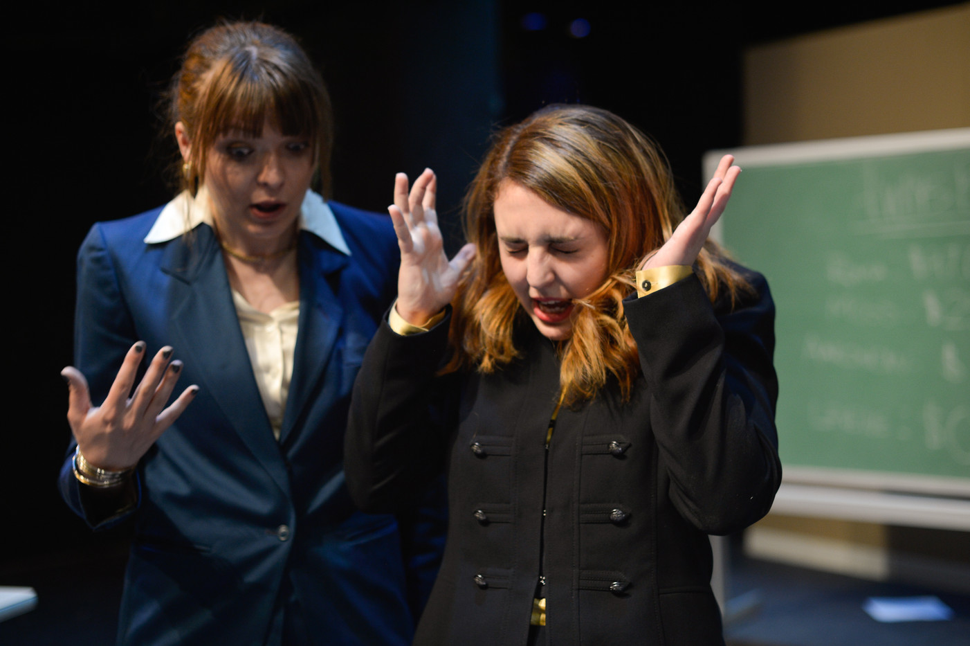 Elise as Williamson in Glengarry Glen Ross Post Theatre Company March 2018.