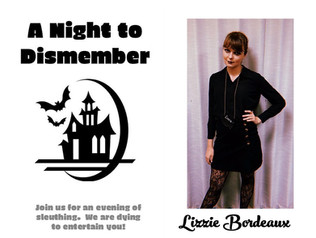 "Elise as Lizzie Bordeaux in ""A Night to Dismember"""