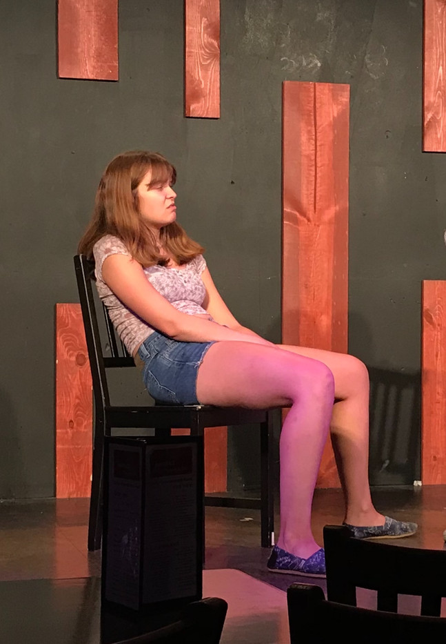 Elise improvising at The Annoyance Theatre.
