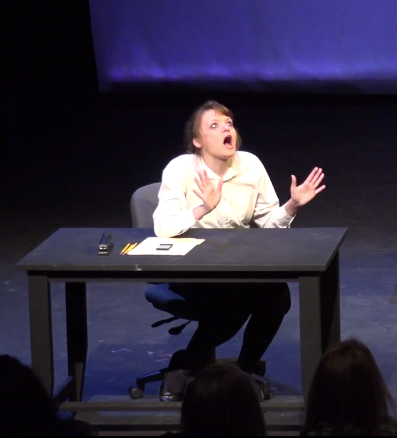 Elise in The Office 2015 at Little Theatre Mainstage.