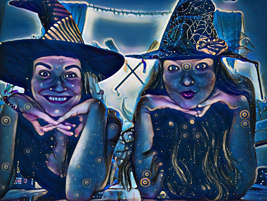 Winifred & Bethilda as Witches