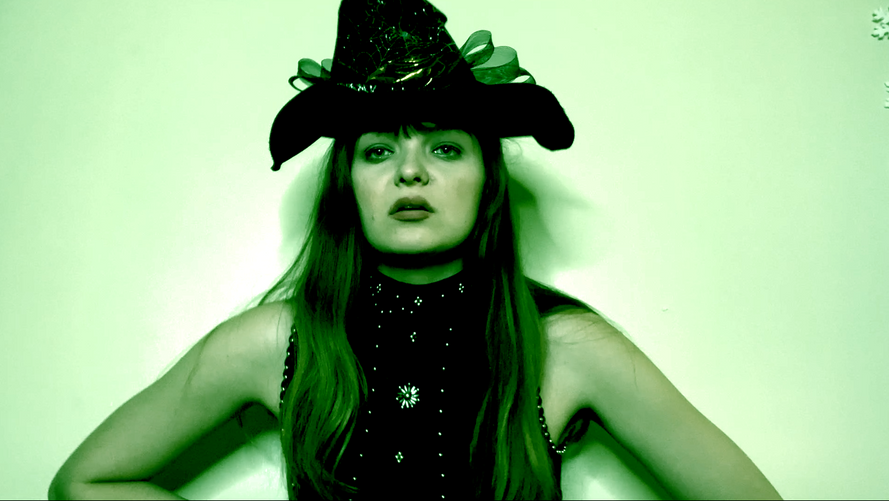 Elise as Elphaba in The Story of Wicked