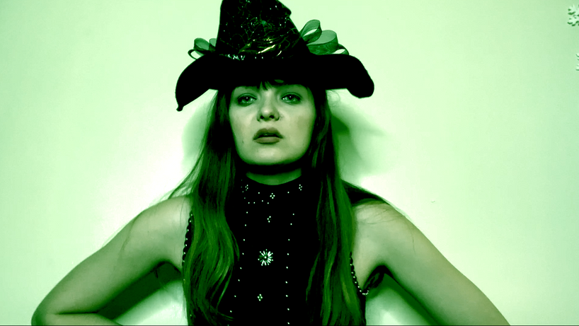 Elise as Elphaba in The Story of Wicked.
