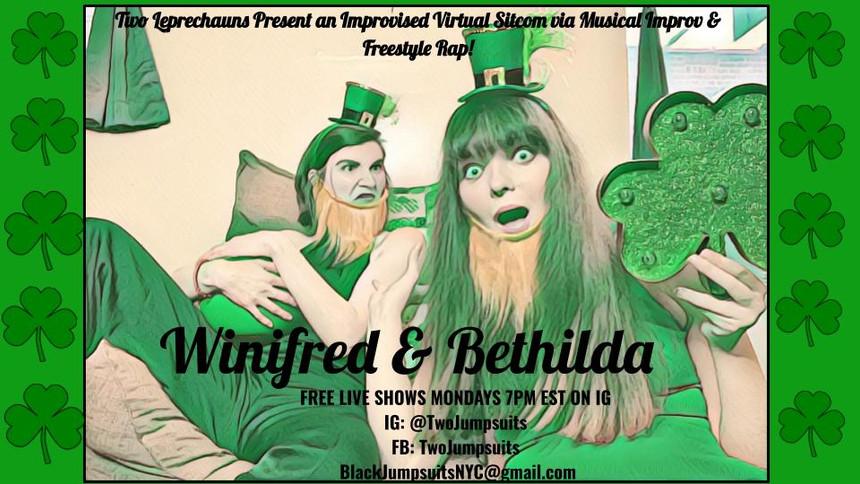 Winifred & Bethilda as Leprechauns