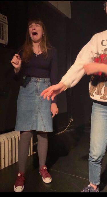 Elise improvising in Dorm Room: The Musical at The Magnet Training Center November 2019.