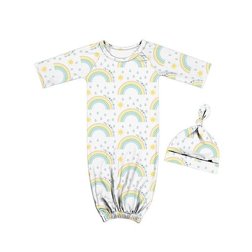 Only Rainbows Baby Gown - Boy