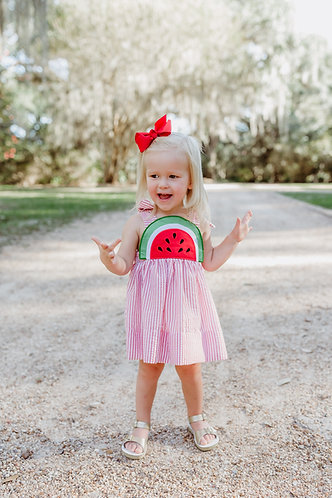 Washington Watermelon Dress - Red