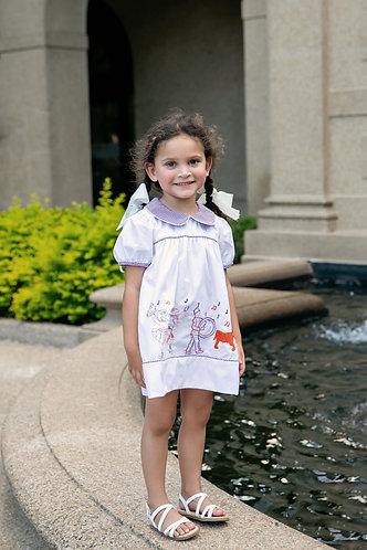 Classic Game Day Parade Dress - Tiger - purple & orange