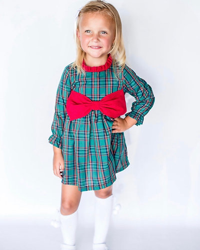 Classic Christmas Bow Dress