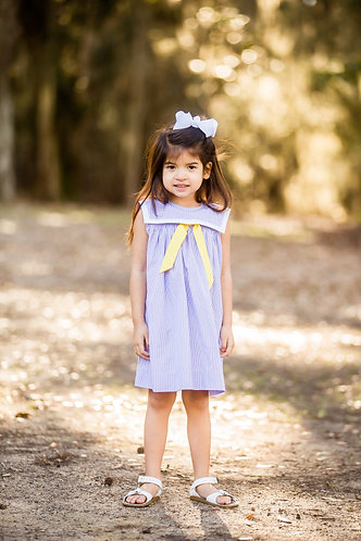 Purple and Gold Sailor dress