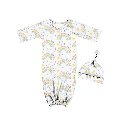 Only Rainbows Baby gown