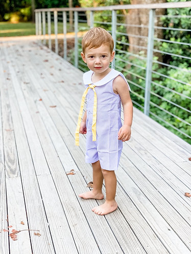 Boys sailor shortall -  Lavender Purple and Gold - NO SNAPS