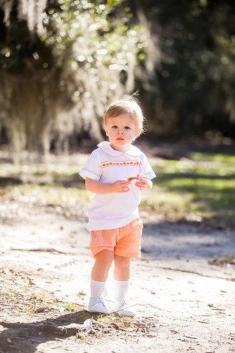 Palmer Pumpkin boys shorts set
