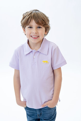 Tiger Embroidered Knit Polo
