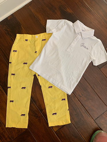 Gold tiger pants