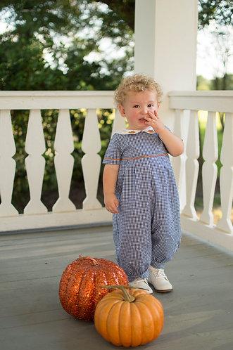Blue Gingham Pumpkin Longall