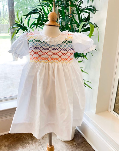 Carley's Littles Rainbows Smocked dress