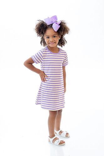 Game Day Stripe Knit Play Dress