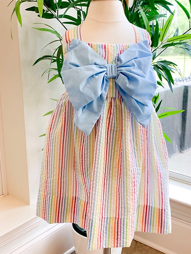 Carley's Little Rainbows Seersucker dress