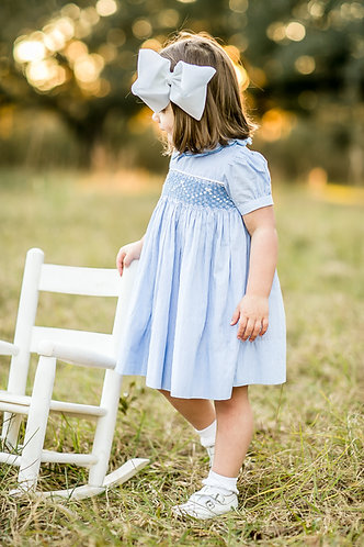 Sally Anne Smocked Bow Dress