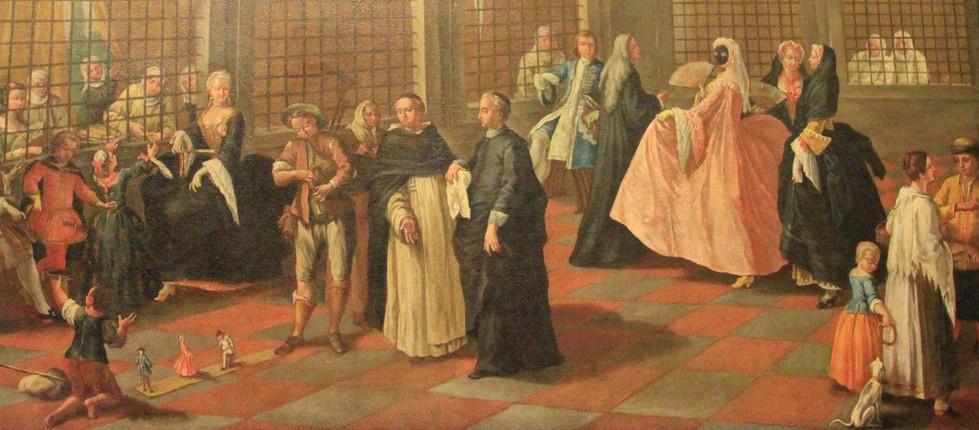 la vida veneciana de un cuadro del palacio