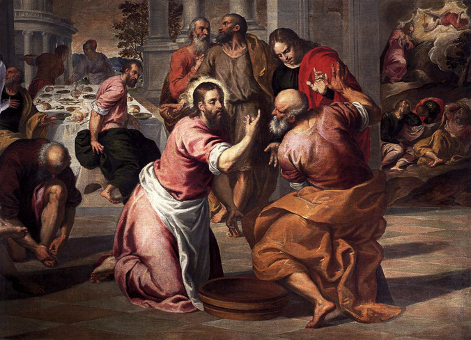 •El lavatorio de pies, Jacopo Palma el Joven