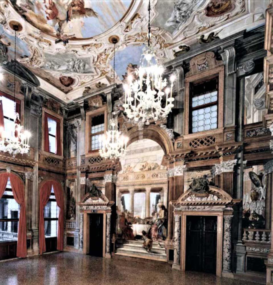 El salón de baile de Tiepolo palazzo Labia