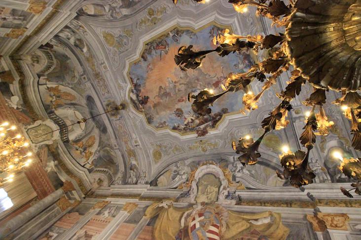 Candelabros originales del palacio