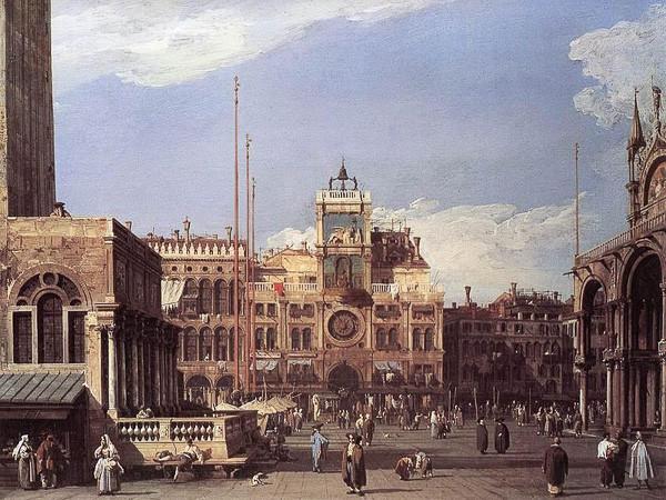 La Torre del Reloj en cuadro de Canaletto (1720)